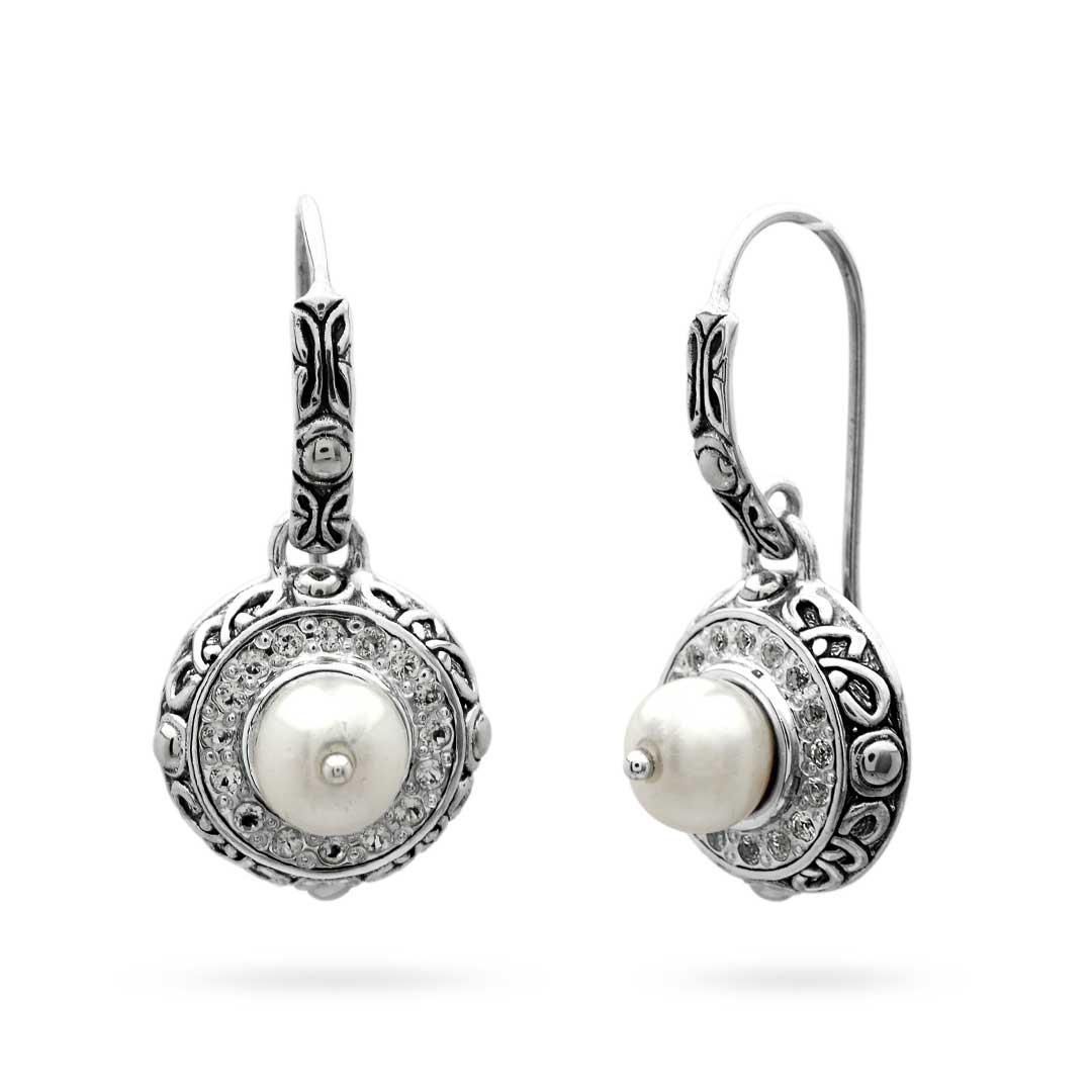 Bali Jewelry Bali Motif SE095PlWt Gallery 1