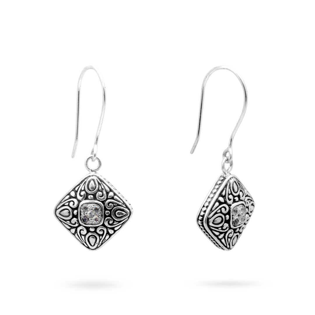Bali Jewelry Bali Motif SE250-2Cz Gallery 1
