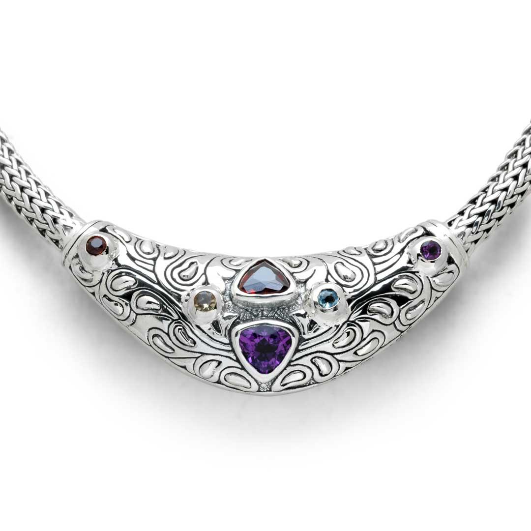 Bali Jewelry Bali Motif SN520AmGa Gallery 2