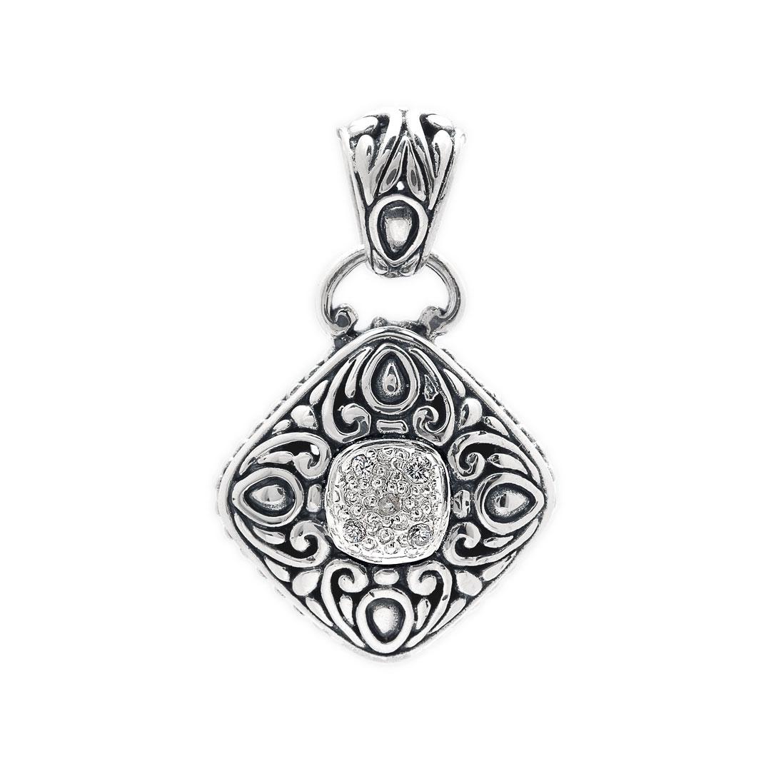 Bali Jewelry Bali Motif SP250-3Cz Gallery 1