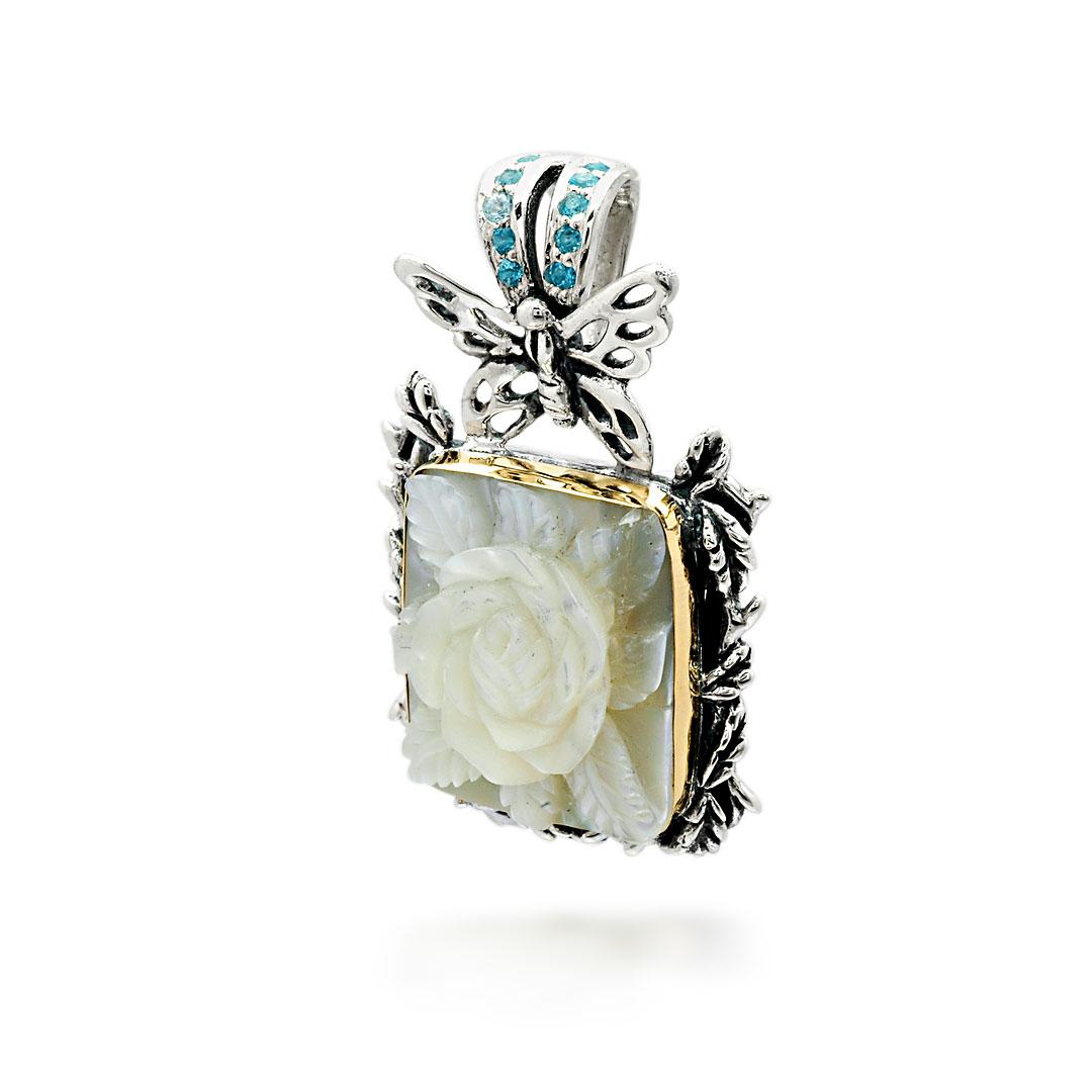 Bali Jewelry Butterfly SPG600-9MopBt Gallery 2