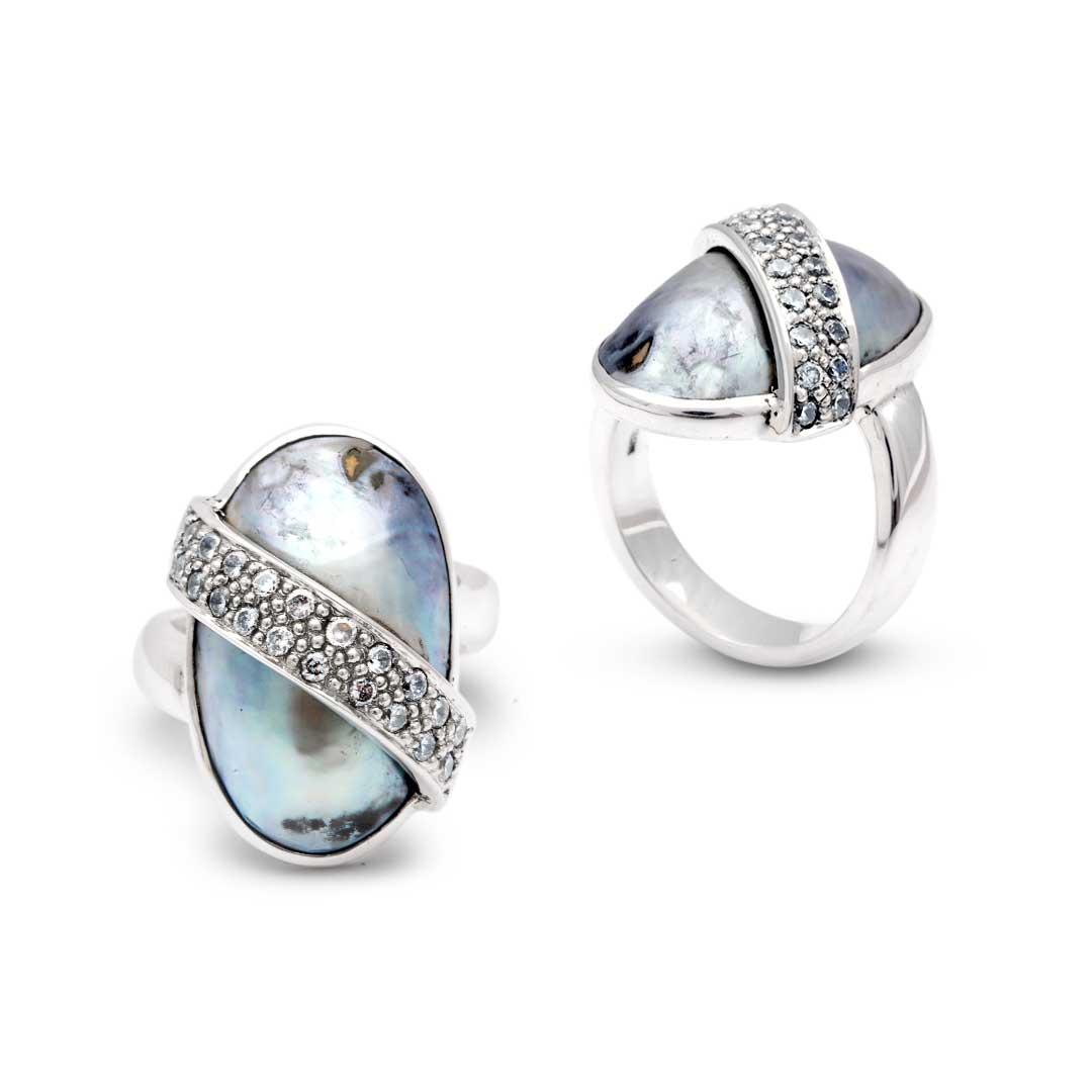 Bali Jewelry Plain SR063CkCz Gallery 1