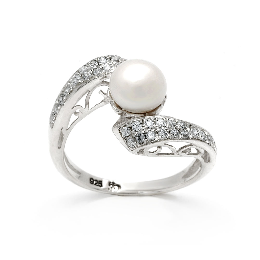 Bali Jewelry Plain SR080-17WpCz Gallery 2