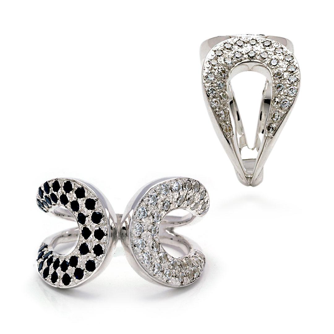 Bali Jewelry Plain SR080-40CzBs Gallery 1