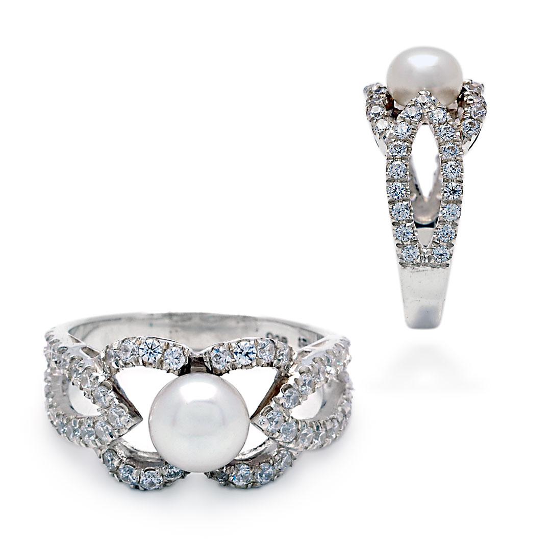 Bali Jewelry Plain SR080-45PlCz Gallery 1