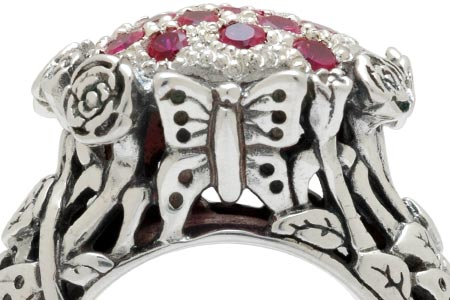 Bali Jewelry Butterfly SR599RbCz Gallery 2