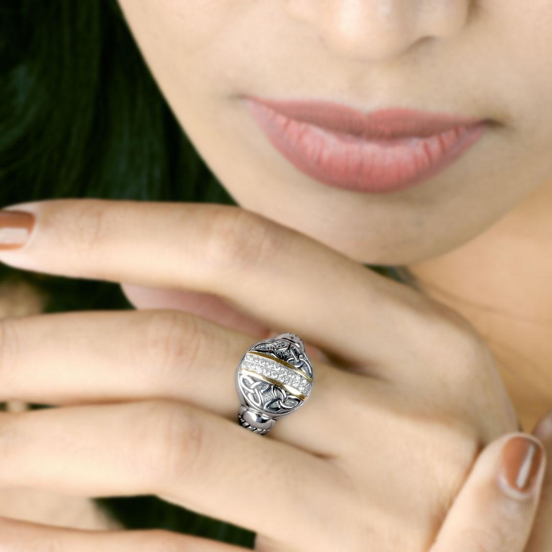 Bali Jewelry Celtic SRG816-6Cz Gallery 2