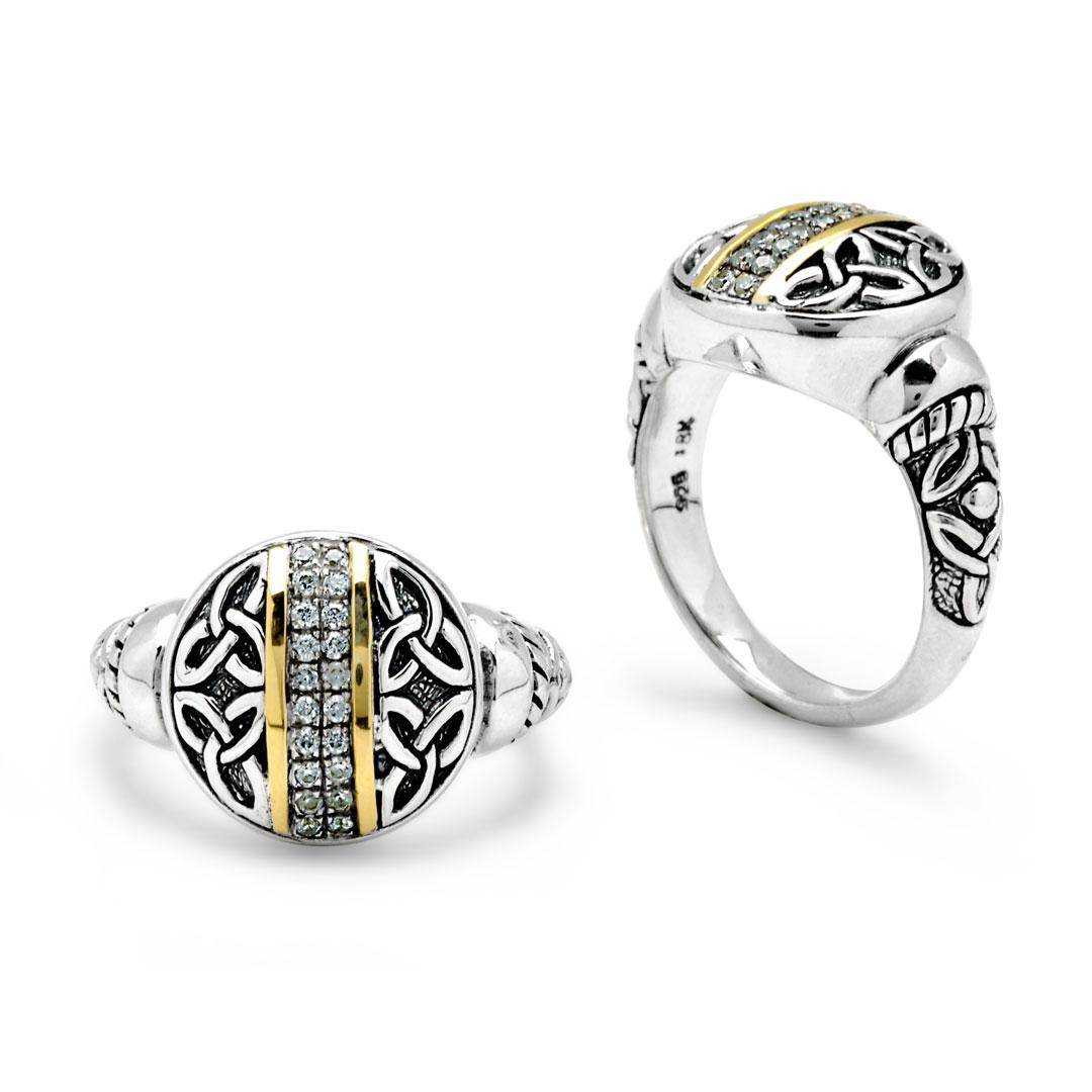 Bali Jewelry Celtic SRG816-6Cz Gallery 1